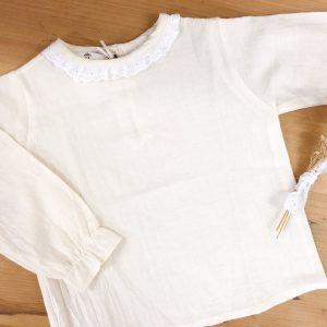 Camisa cuello tela – festón