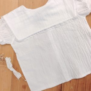 Camisa Cuello Cuadrado Manga Corta